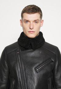 Tommy Hilfiger - BIKER JACKET - Leather jacket - black - 4