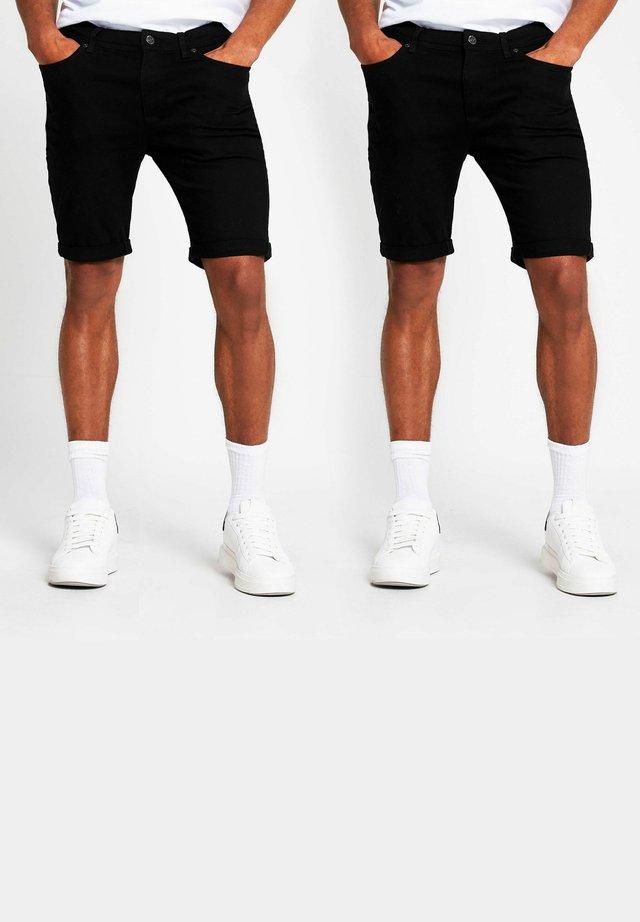 2 PACK - Shorts di jeans - black