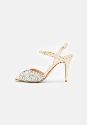 APRIL GLITTER METALLIC  - Sandals - silver/light gold