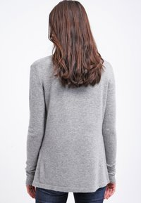 Zalando Essentials - CASHMERE - Cardigan - light grey melange - 2