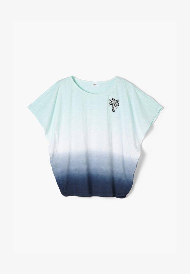 T-shirt print - dark blue gradient