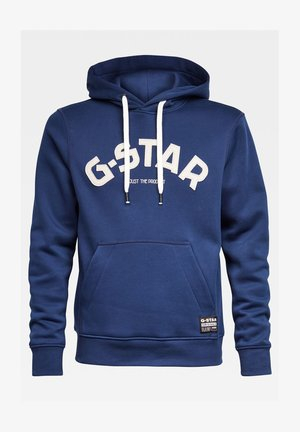 VARSITY FELT HOODED LONG SLEEVE - Mikina s kapucí - imperial blue