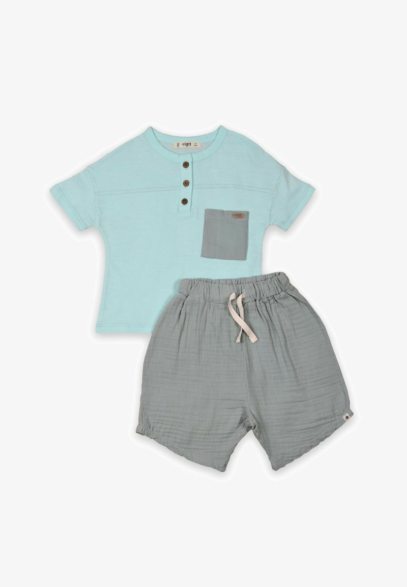 Cigit - SET - Shorts - turquoise/grey
