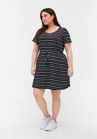 Zizzi - Tunic - black/white stripe - 1