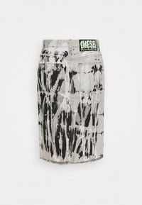 Diesel - DE-ELLYOT-SP SKIRT - Denimová sukně - black/white - 1