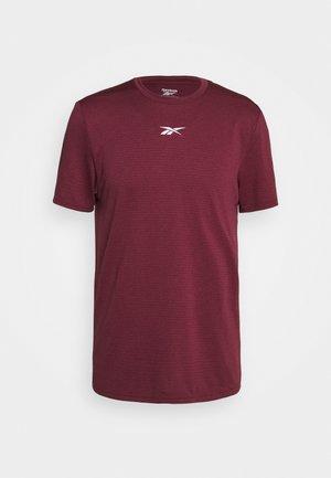 WOR MELANGE TEE - T-shirt imprimé - maroon