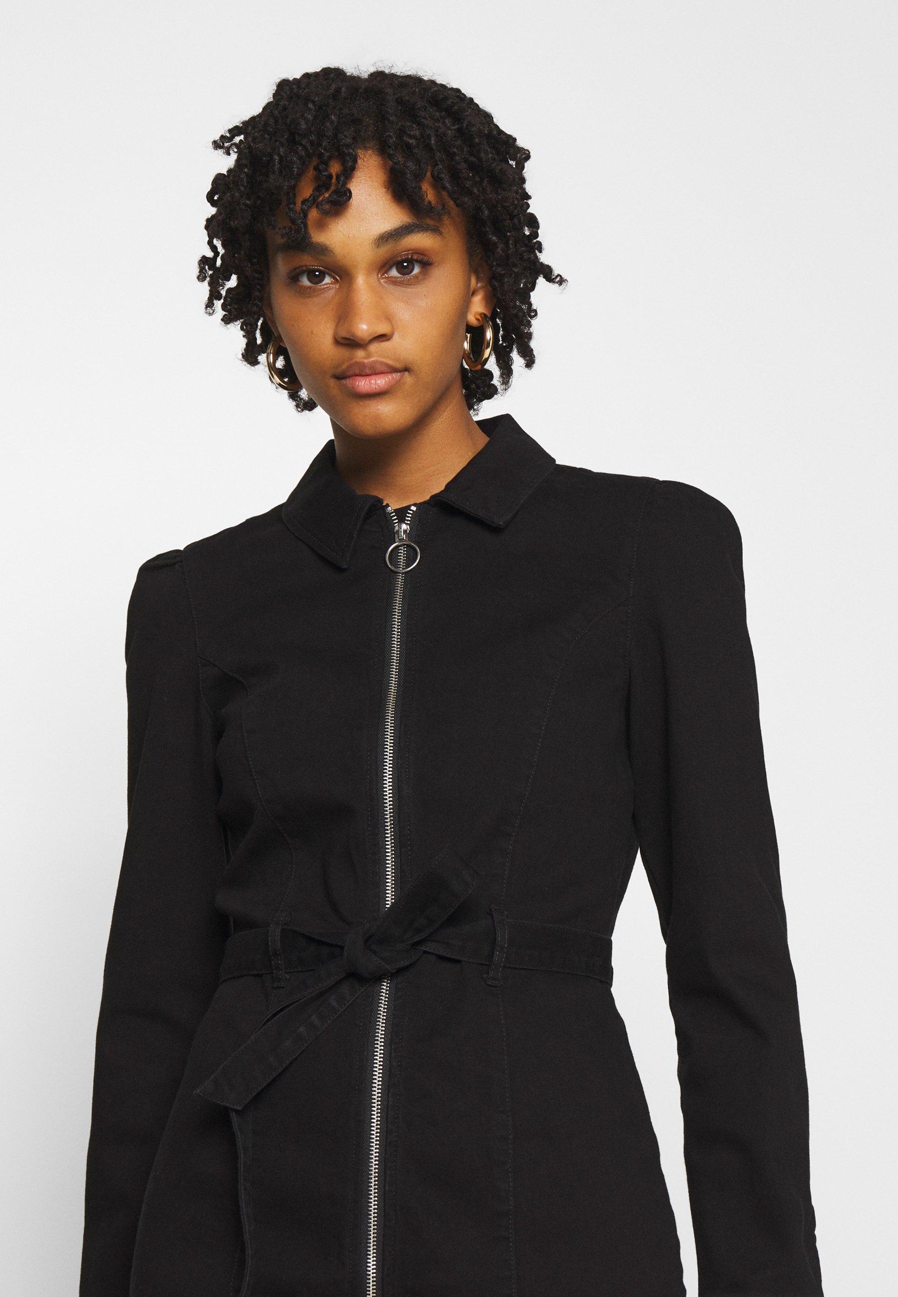 Women ONLFLEUR LIFE PUFF DRESS - Denim dress - black