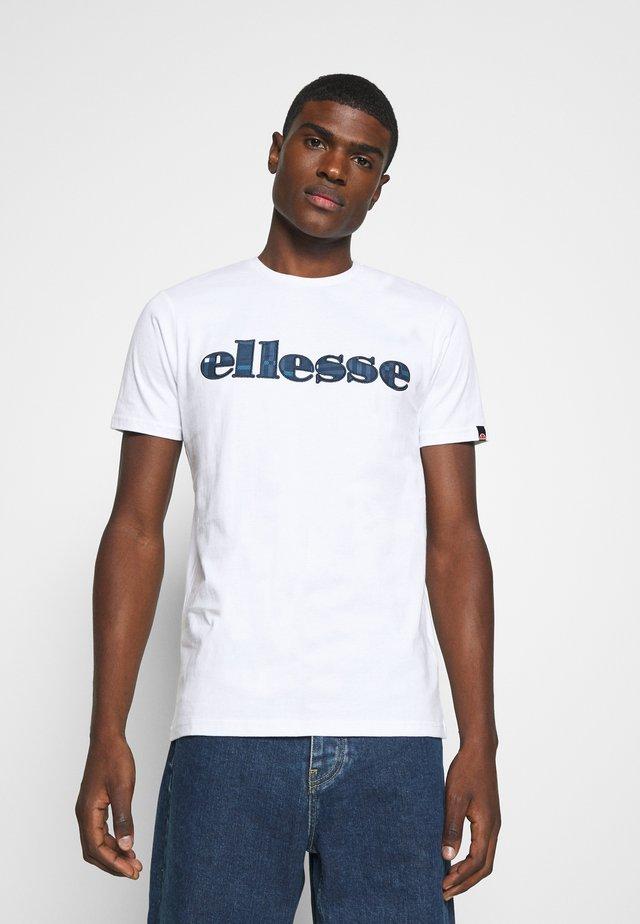 LOCARA - Camiseta estampada - white
