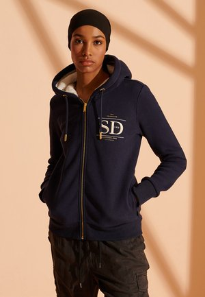 Zip-up hoodie - nautical navy