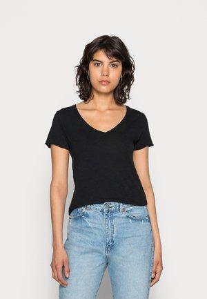 JACKSONVILLE V NECK TEE - T-shirts basic - noir