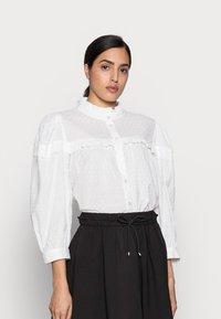 Kaffe - JOANNA BLOUSE - Button-down blouse - chalk - 0