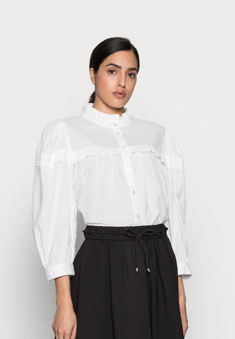 Kaffe - JOANNA BLOUSE - Button-down blouse - chalk