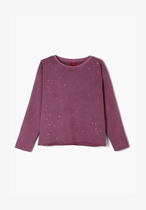 GARMENT DYE MIT SCHMUCKSTEINEN - Sweatshirt - purple
