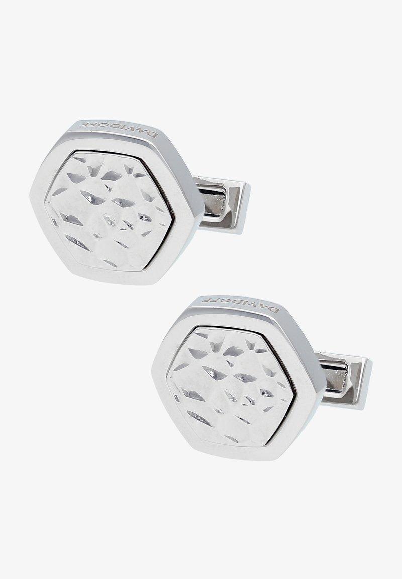 DAVIDOFF - TRACES - Cufflinks - silver coloured