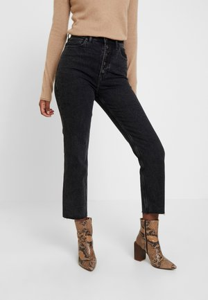 ULTRA HIGH RISE ANKLE - Straight leg jeans - black