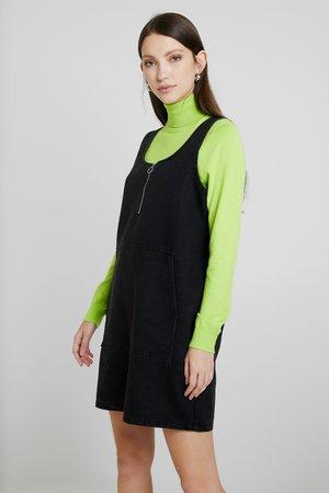 NMCAROLA DRESS - Denim dress - black
