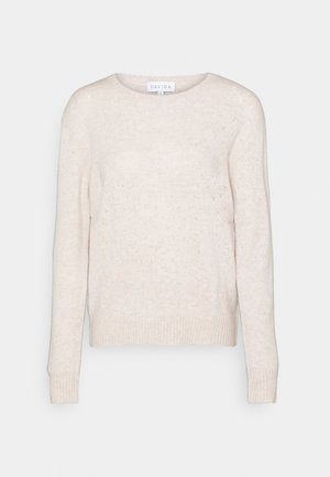 DOTTED SWEATER - Neule - light beige