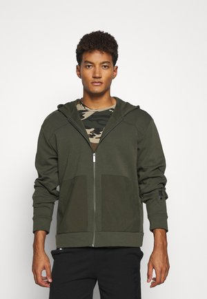 NU TILITY HOODIE - Sweatjacke - forest night