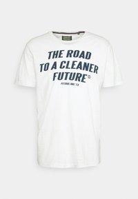 Print T-shirt - chalk white