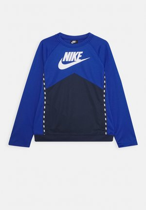 CREW - Long sleeved top - midnight navy/game royal/white