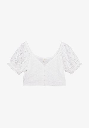 TOO CUTE TO HANDLE TOP - Bluser - white