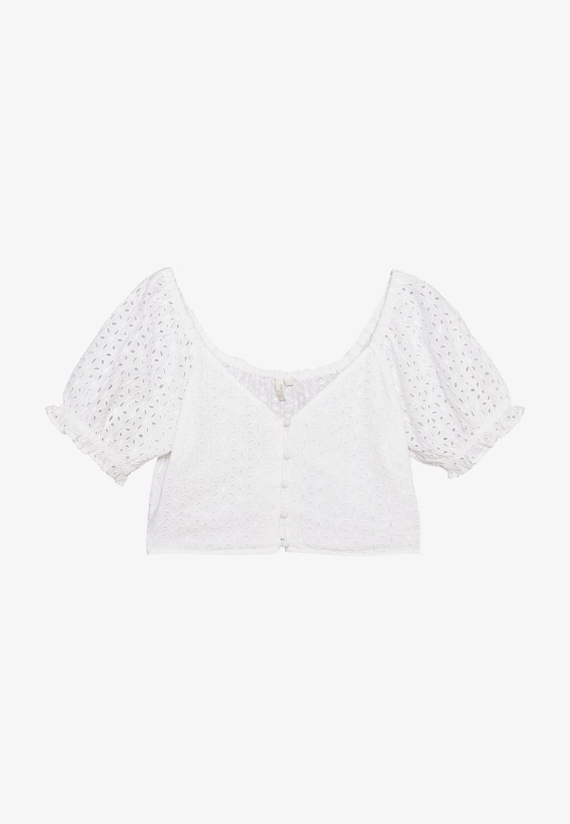 Nly by Nelly - TOO CUTE TO HANDLE TOP - Bluser - white