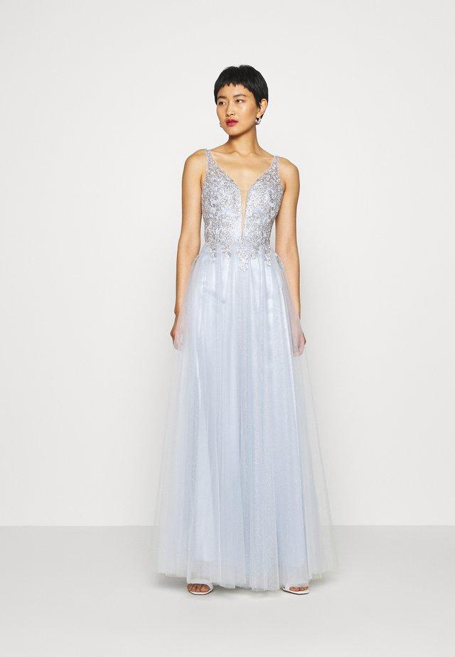 Festklänning - eisblau/silber