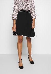 Anna Field Petite - FLARED SKIRT - A-line skirt - black - 0
