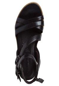 Tamaris - Ankle cuff sandals - black/metallic - 2