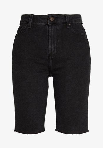 ONLEMILY LONG  - Denim shorts - black