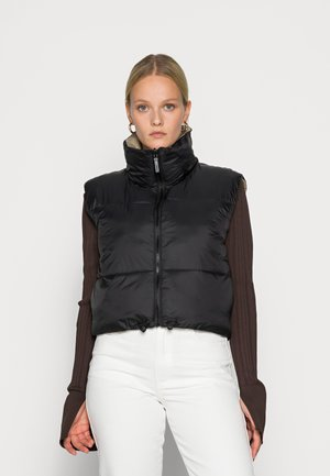 REVERSIBLE VEST - Waistcoat - black