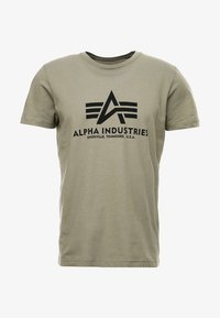 Alpha Industries - BASIC - Camiseta estampada - olive - 3
