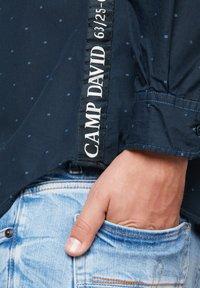 Camp David - FIL À FIL JACQUARD HEMD - Shirt - blue navy - 5