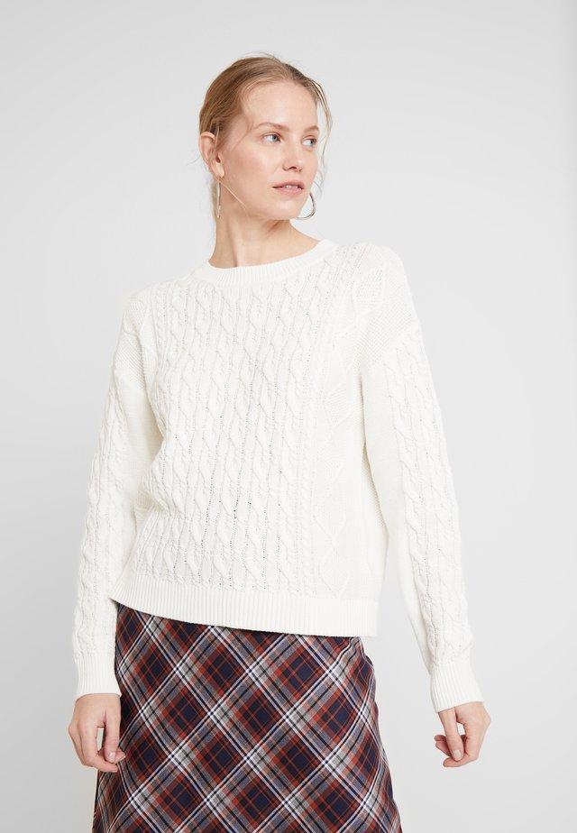 CABLE CREW - Pullover - snowflake milk