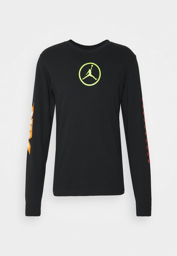 Jordan CREW - Bluzka z długim rękawem - black/czarny Odzież Męska ZFZF