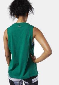 Reebok - MEET YOU THERE REEBOK MUSCLE TANK TOP - Sports shirt - clover green - 1