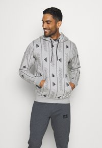 adidas Performance - Hoodie - medium grey heather/black - 0