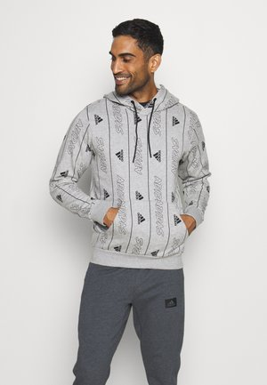 Felpa con cappuccio - medium grey heather/black