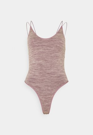 STRAPPY BACK THONG BODYSUIT - Top - purple space dye