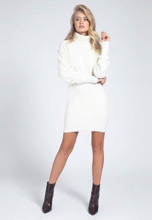 Gebreide jurk - weiß