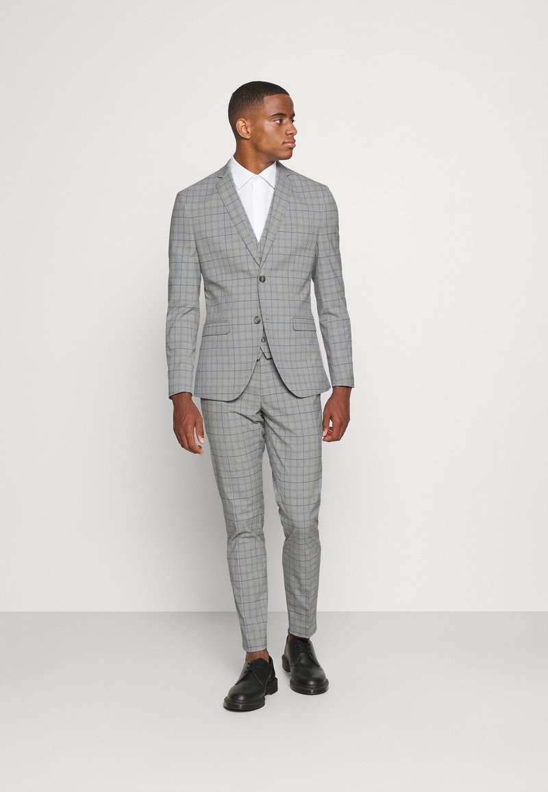 Isaac Dewhirst - THE FASHION SUIT PIECE CHECK - Completo - grey