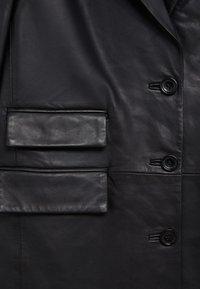 Mango - Leather jacket - schwarz - 8