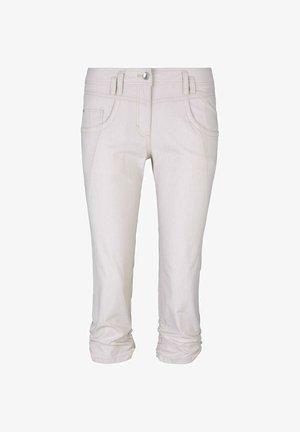 Pantalon classique - beige thin stripe