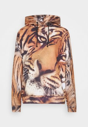 OVERSIZED HOODIE TIGER FACE  - Jersey con capucha - brown