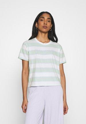 TEE - Print T-shirt - green/blue
