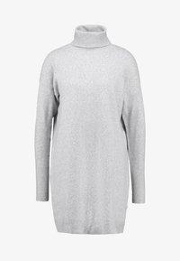 Vero Moda - VMBRILLIANT ROLLNECK DRESS - Jumper dress - light grey melange - 7