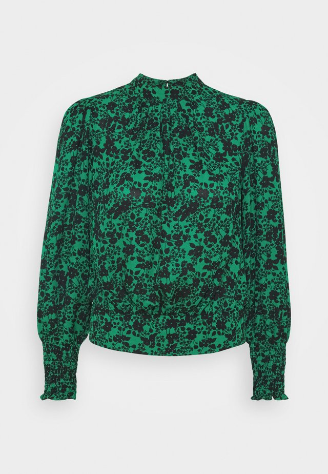 SHIRRED NECK - Blouse - green