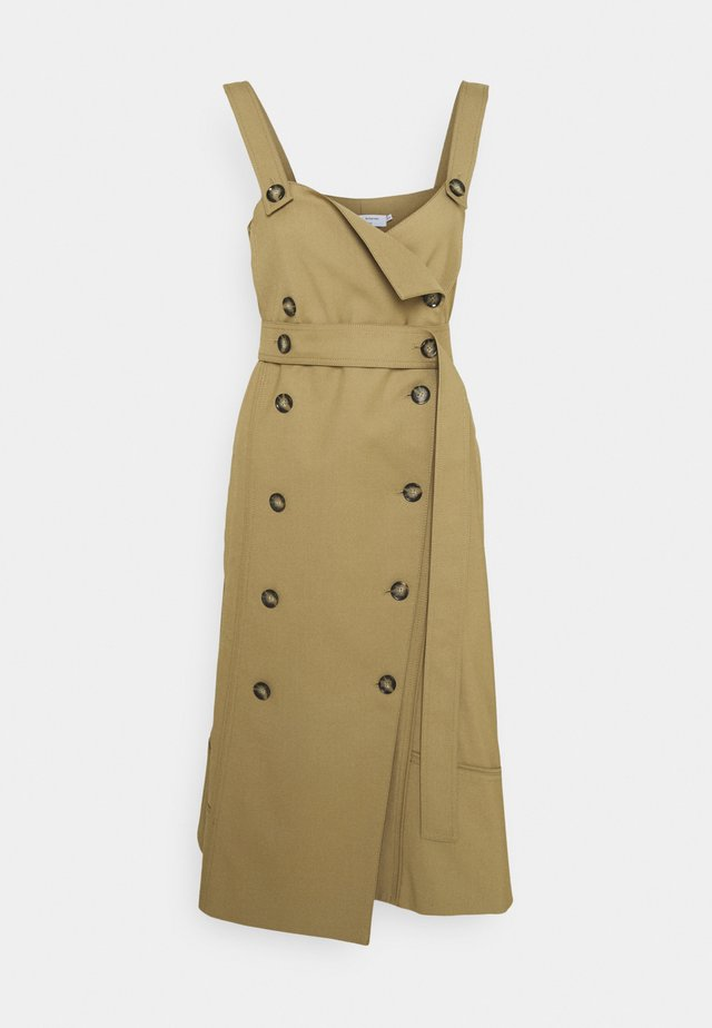 STRETCH SUITING TRENCH DRESS - Day dress - cider