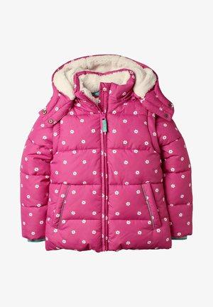 KUSCHELIGE 2-IN-1-JACKE MIT WATTIERUNG - Winter jacket - rosarot, geometrisches blumenmuster
