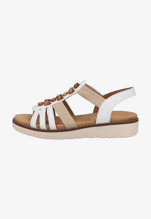 Sandalen met plateauzool - weiss/meliert